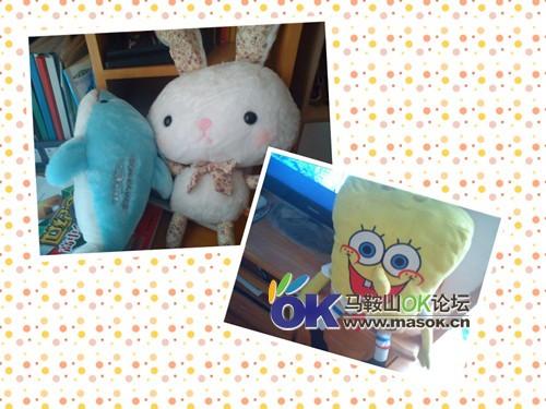 海绵宝宝小海豚小兔子 娃娃 跳蚤市场