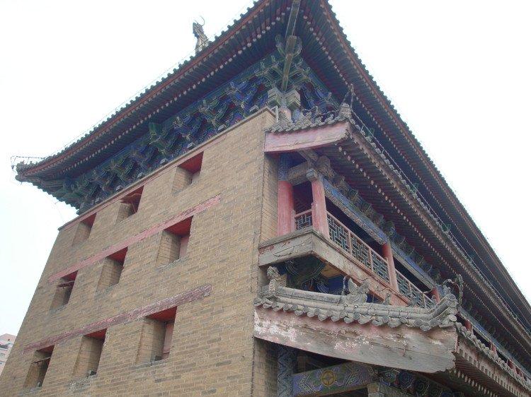 西安明城墙,钟鼓楼,大雁塔的照片