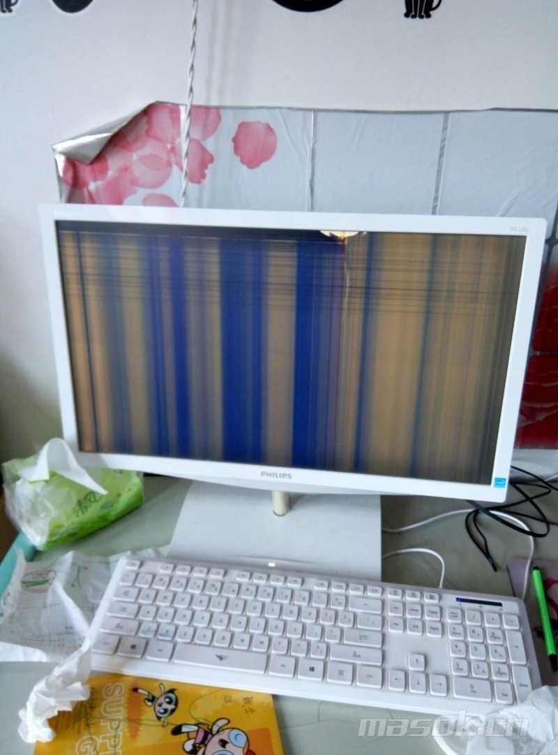 飞利浦22寸显示器就是屏幕碎了,有收的吗? - 跳